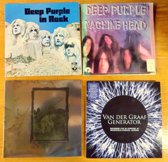"Deep Purple, Van der Graaf Generator, Led Zeppelin - Diverse artiesten - ""in Rock"" ""Machine Head"" ""LZ IV Untitled"", ""vdG Live 2LP"" - LP's - 1970/2014"