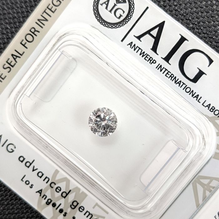 Diamant - 0.40 ct - Brillant - G - I2, No Reserve Price