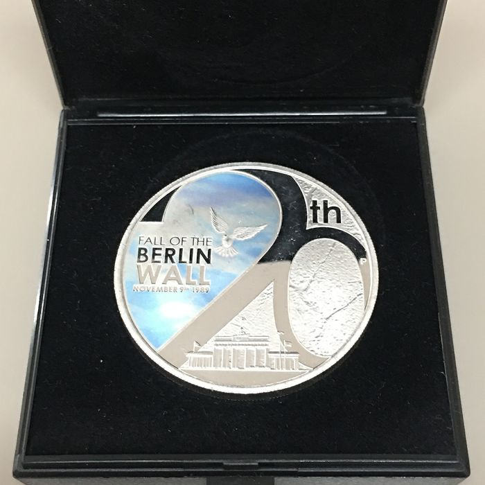 Tuvalu - 1 Dollar 2009 - 20th Anniversary Fall of the Berlin Wall 1 Oz - Silver