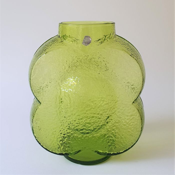 "Willem Heesen - Royal Leerdam (Nederland) - Green vase ""Rosetta"" - Glass"