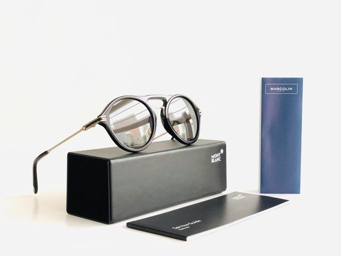 Montblanc - MB716S-01D-52,*3P-Polarized Mirrored ZEISS lenses, Shiny ruthenium silver design *Brand new & Unused Sunglasses