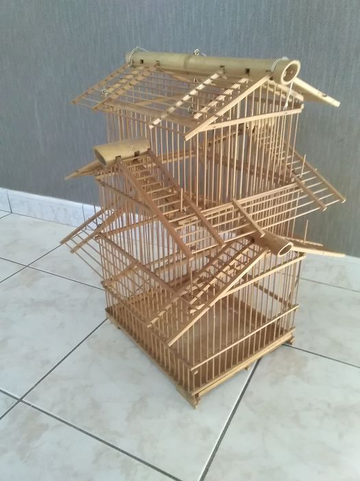 Old bird cage - Bamboo