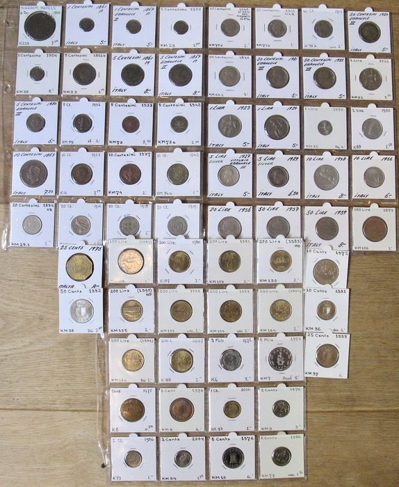 Italien, Malta - Collection various coins 1801/2006 (65 different) incl 2x silver & many high grades