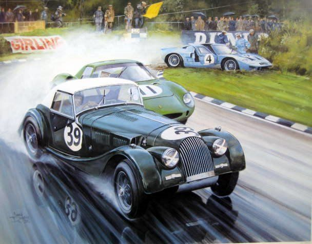 "Impression d'Art - ""Malvern meets Maranello"" - Morgan Plus 4 Super Sport #39/Jim Tucker - IIford Films 500 mile"