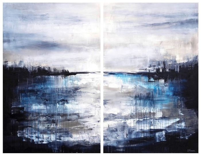 Suzanne Visser - View from Sea - Diptych
