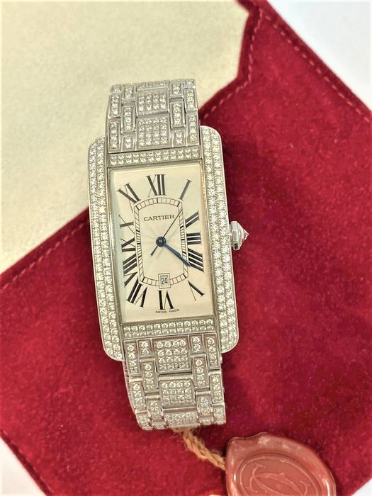 Cartier - Tank Américaine Diamonds - 1741 - Unisex - 2000-2010