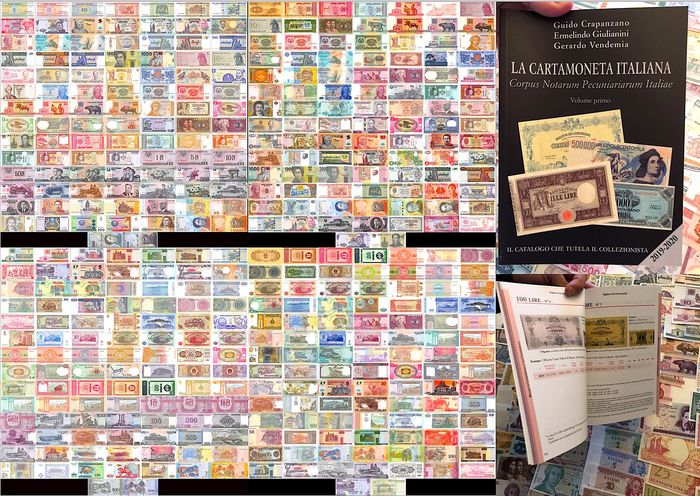 Wereld - Collection: 300 banknotes and Italian catalog 2019/2020