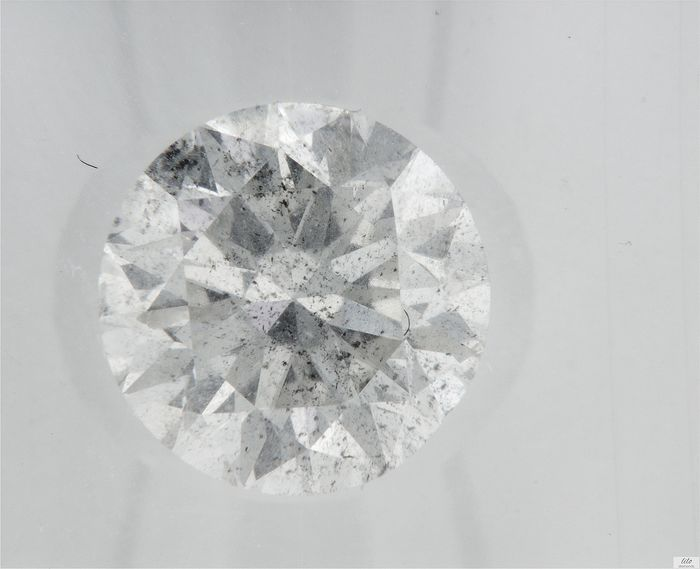 Diamond - 1.82 ct - Brilliant - D (colourless) - I1