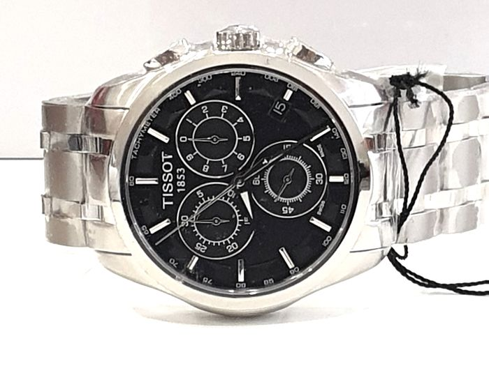 Tissot - Couturier Chronograph - Stainless Steel  - T035.617..11.051.00 - Swiss Made Movement - Uomo - 2011-presente