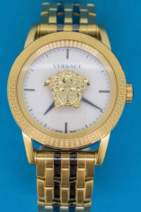 Versace - Palazzo Empire Watch Two Tone Stainless Steel and Gold Swiss Made - VERD00418 - Herren - Brand New