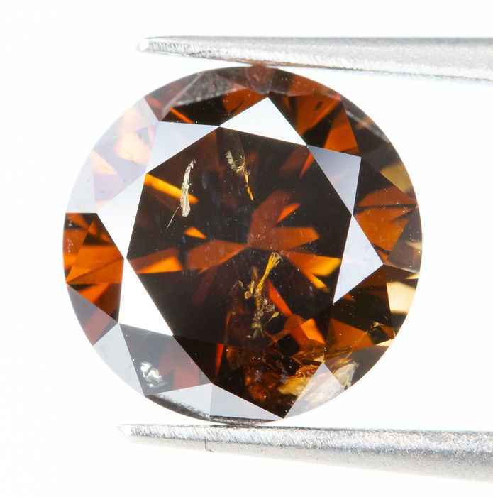 Diamond - 2.03 ct - Natural Fancy DEEP Brownish Orange - SI2  *NO RESERVE*