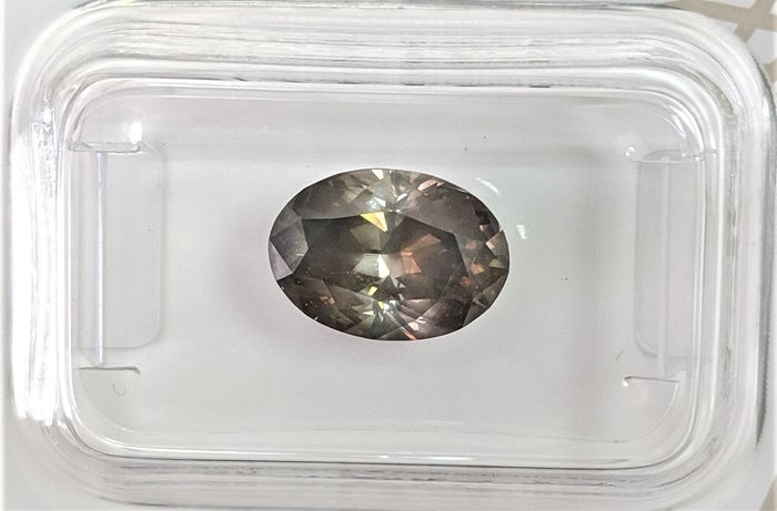 Diamant - 2.28 ct - Oval - Fancy Deep Brownish Grey - SI2, No Reserve Price