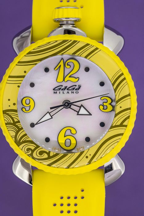 "GaGà Milano - Lady Sport 40MM Yellow White Mother of Pearl dial Swiss Made - 7020 ""NO RESERVE PRICE"" - Naiset - Brand New"