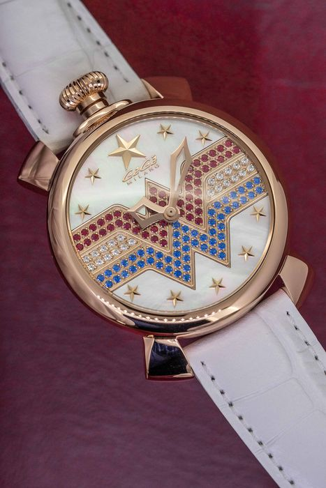 """GaGà Milano - Wonder Woman Manuale 40MM LIMITED EDITION Rose Gold  - WW175 """"NO RESERVE PRICE"""" - Women - Brand New"""