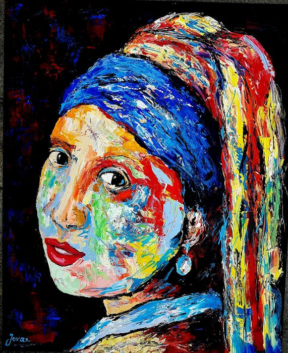 Jovan Srijemac - Abstract Girl with a pearl earring