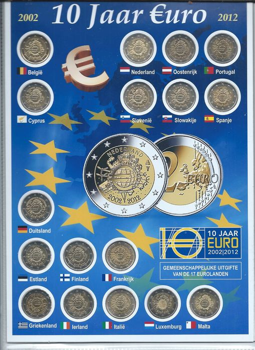 "2012 Luxembourg 2 Euro Unc Coin /""10 Years of the Euro/"""