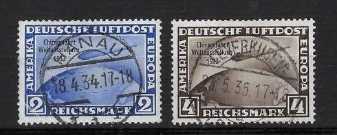 Deutsches Reich 1933 - Lovely lot of airmail stamps - Yvert 42B et 42C