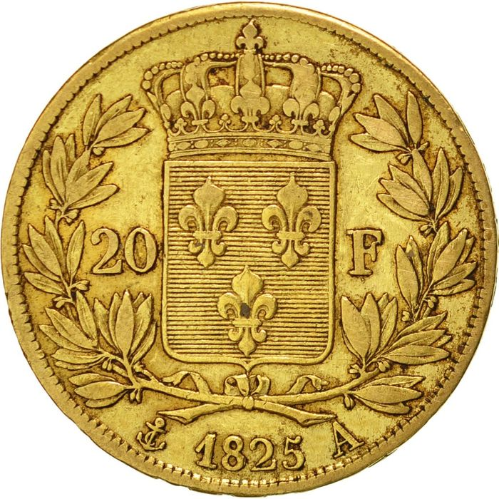 20 Francs 1825-A Charles X  - Or