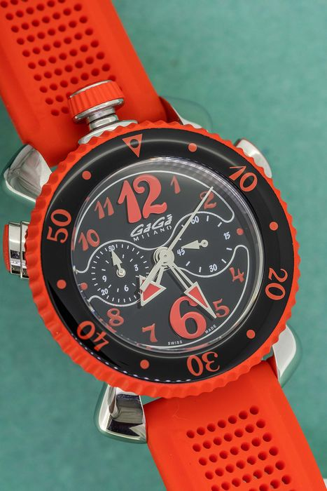 "GaGà Milano - Chrono Sport 45MM Red Swiss Made - 7010 ""NO RESERVE PRICE"" - Unisex - Brand New"