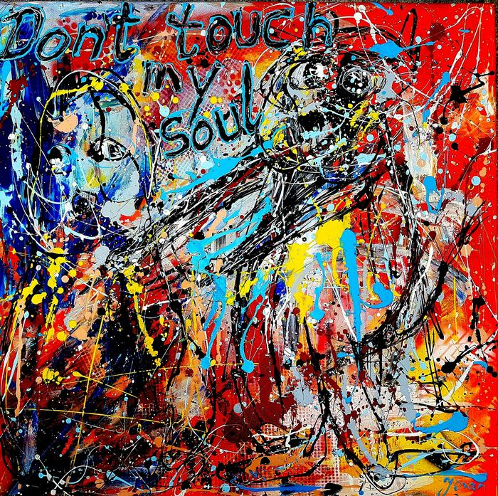 Jovan Srijemac - Action painting , Don´t touch my soul