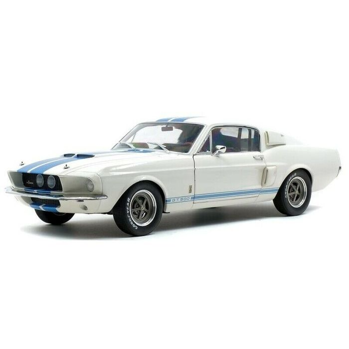 Solido - 1:18 - Shelby Mustang GT500 year 1967  - wit Blauw