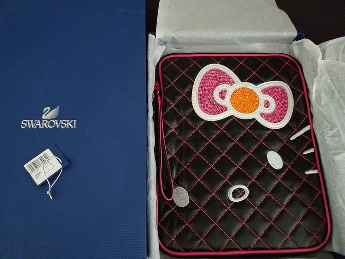 Unbekannt - Swarovski - Funda iPad Tablet Pop Art (1) - Cristal, Cuero