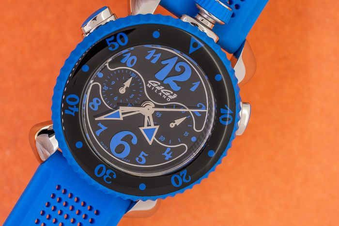 GaGà Milano - Chrono Sport 45MM Blue Swiss Made - 7010 - Unisex - Brand New