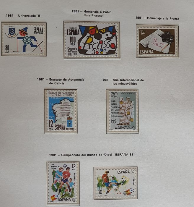 Spanje 1981/1997 - Stamp collection