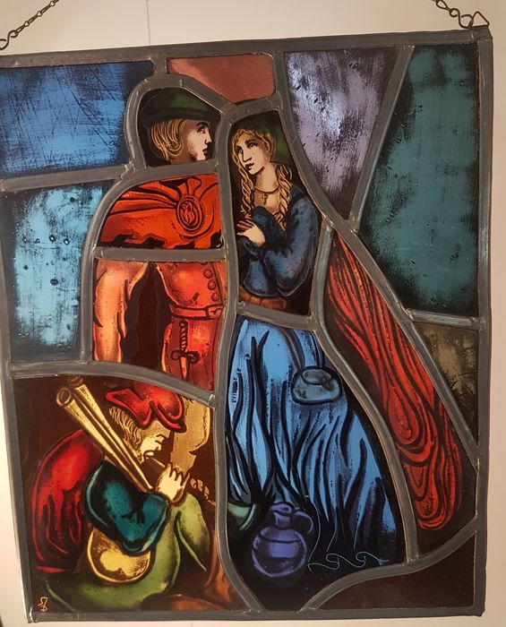 stained glass in lead (1) - Glas (glas-in-lood)