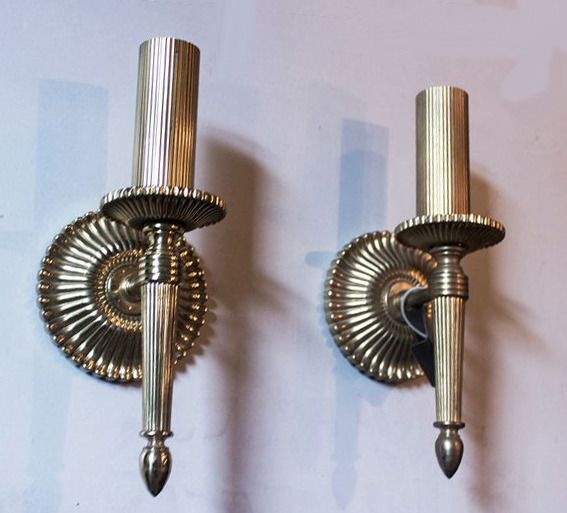 S.A. Boulanger - Elegant pair of  brass light wall sconces - Mid-Century Modern