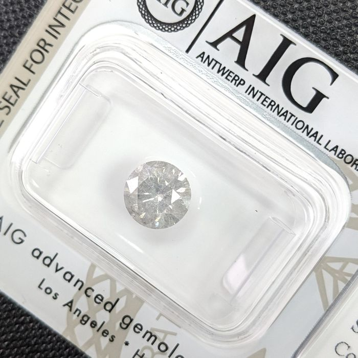 Diamant - 1.15 ct - Brillant - H - I3 (Piqué), No Reserve Price