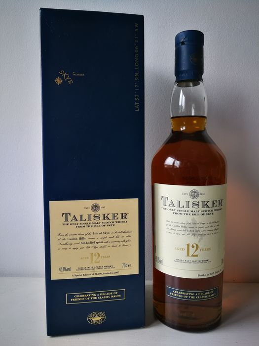 Talisker 12 years old Friends of the Classic Malts - Original bottling - b. 2007 - 70cl