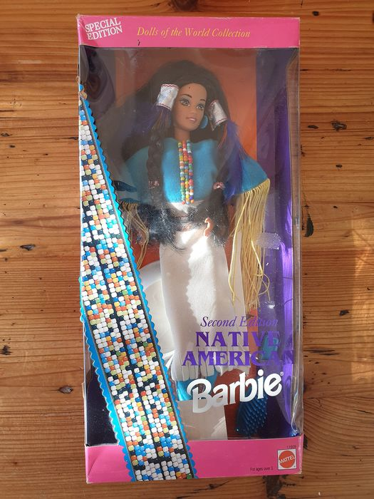 Mattel - 74299-11609 - Muñeca Barbie 11609 Doll of the World 3rd series Native American 2nd edition 1993 - Indonesia