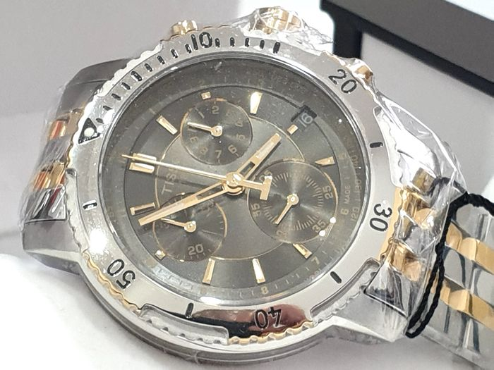 """Tissot - """" NO RESERVE PRICE """" T Sport PRS 200 Chrono - Two Tone Steel & Gold - T067.417.22.051.00 - Swiss Made Movement - Heren - 2011-heden"""