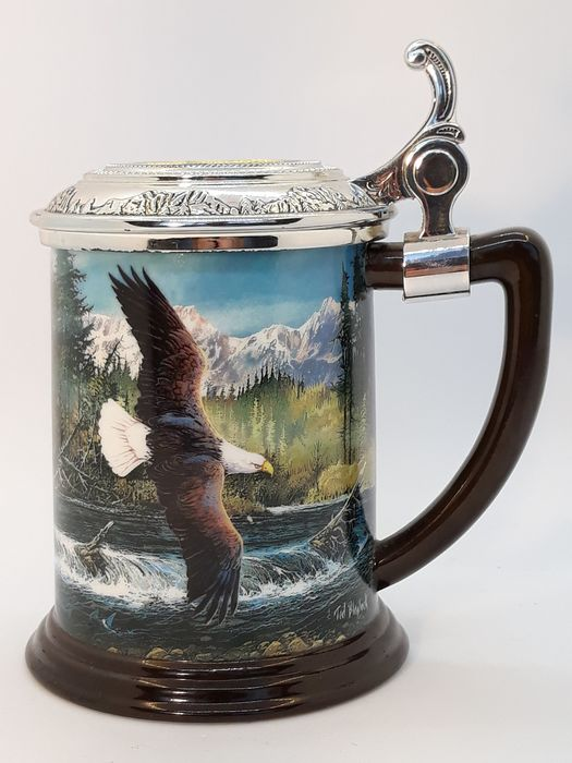 Ted Blaylock - Franklin Mint - Hunter of the skies - Collector Tankard - Porselein