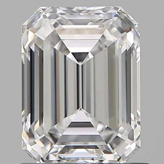 1 pcs Diamant - 1.00 ct - Smaragd - D (farblos) - IF (makellos)
