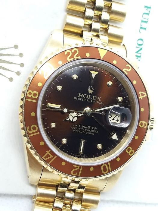 ROLEX -  GMT Master Nipple dial  - 16758 - Hombre - 1986