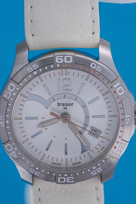 """Traser - T73 Lady Time White Leather Strap Swiss Made  - 100363 """"NO RESERVE PRICE"""" - Women - 2019"""