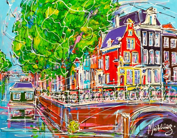 Mathias - Canal of Amsterdam, red house