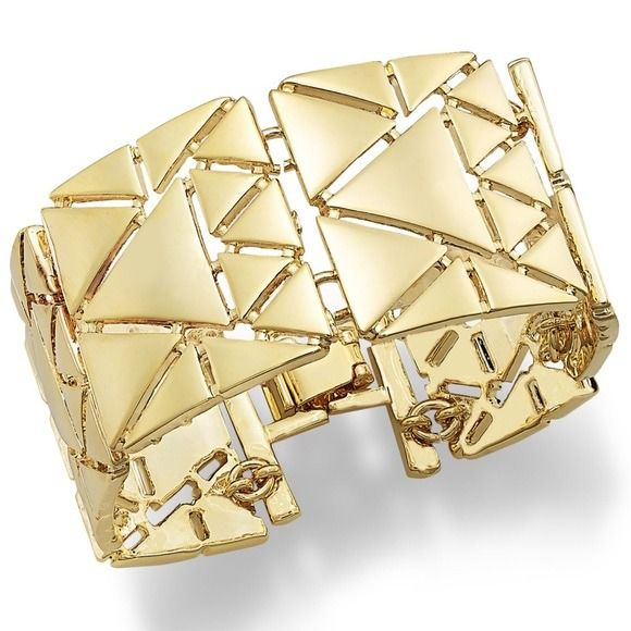 Ralph Lauren - gold plated stylish statement triangle link  Bracelet