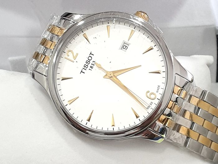 """Tissot - """"No Reserve Price"""" T-Classic Tradition - Two Tone Steel & Gold - T063.610.22.037.00 - Swiss Made Movement - Hombre - 2011 - actualidad"""