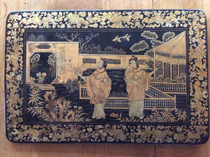 peinture chinoiserie (1) - bois - Chine - Qing Dynasty