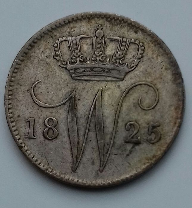 The Netherlands - 25 Cent 1825 B Willem I - Silver