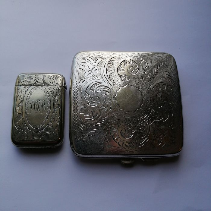 Cigarette Case and Match Striker