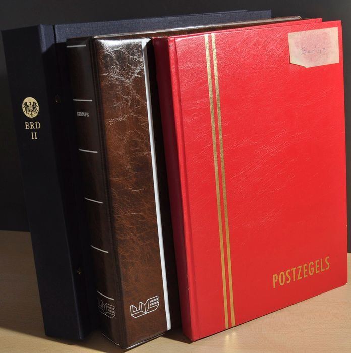 Berlin 1948/1990 - Collection in a DAVO album and 2 stock book