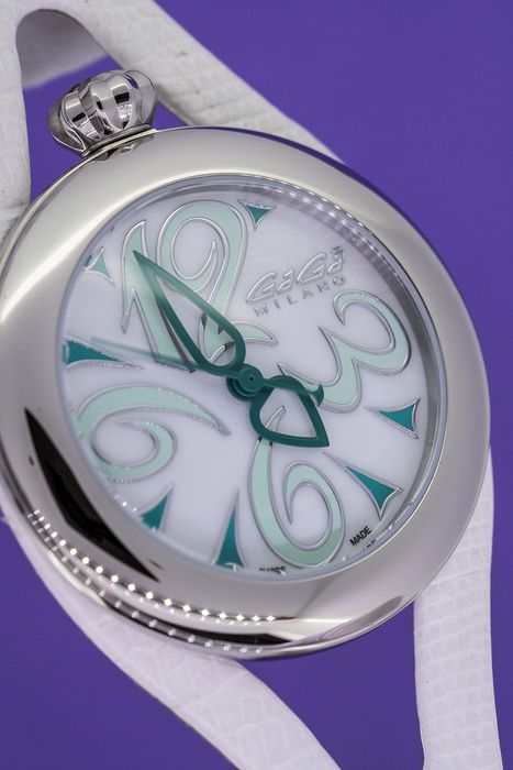 "GaGà Milano - Flat 42MM White Mother Of Pearl Dial Swiss Made - 6070.04 ""NO RESERVE PRICE"" - Unisex - Brand New"