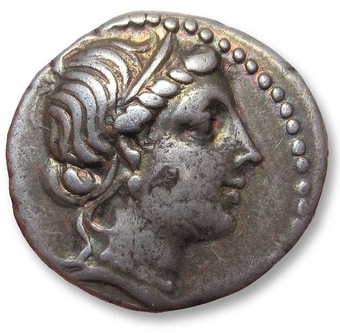 Roman Republic - AR Denarius, L. Cornelius Sulla Felix, as Dictator. Unknown mint (Greece?) 81 B.C. - Silver