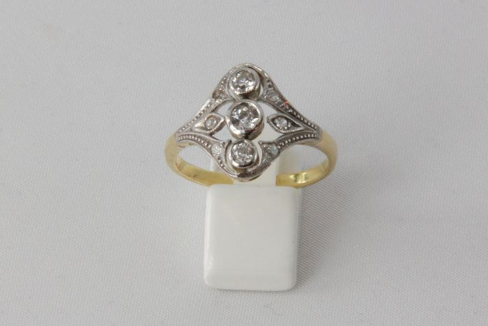 18 karaat Goud - Ring - 0.15 ct Diamant - Diamanten