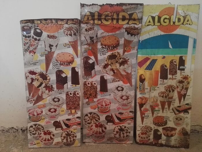 Algida 80s ice cream bar signs (3) - lamiera