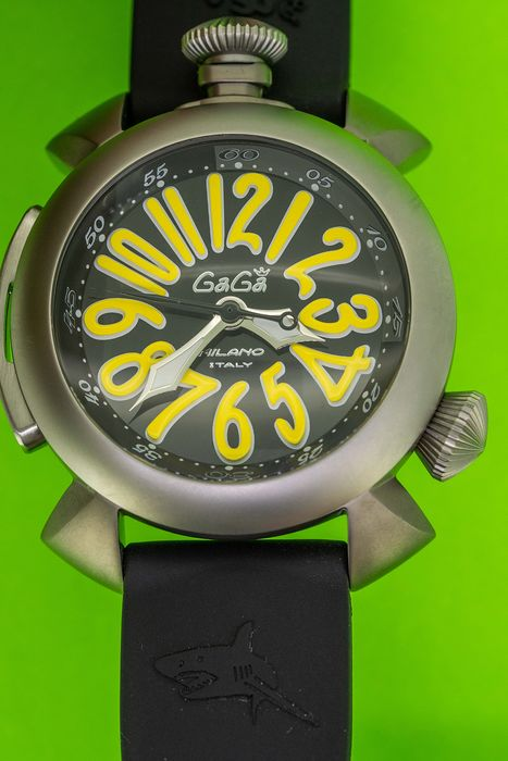 GaGà Milano - Diver 48MM Yellow Titanium Case WR 300 M - 5040.20 - Unisex - Brand New